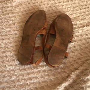 Vintage Shoes - Vintage Woven Leather Slingback Mules